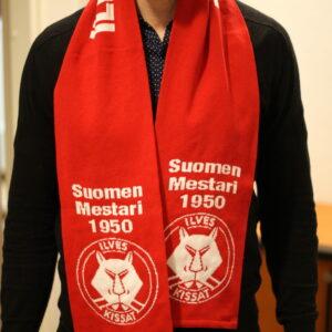 Ilves-Kissat Suomen Mestari 1950-kannattajaHuivi