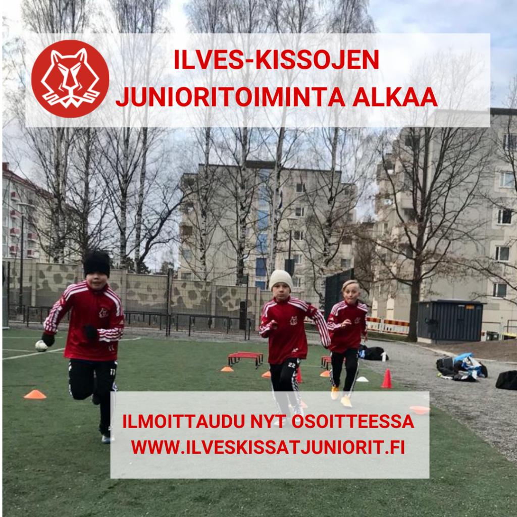Ilves-Kissojen jalkapallojunioritoiminta Tampereella alkaa